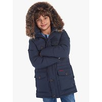 Barbour International Boys Morton Quilted Jacket, Navy