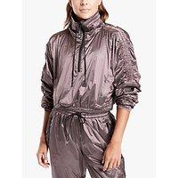 Athleta Metallic Cropped Half Zip Jacket, Pink