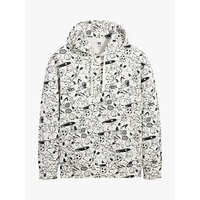 Levi's Peanuts Relaxed Snoopy Soccer Hoodie, White/Multi