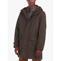 Barbour Audell Waterproof Tartan Jacket, Brown