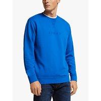 Edwin Katakana Crew Neck Sweatshirt, Blue