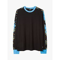 PS Paul Smith Long Sleeve Tape Print T-Shirt, Black