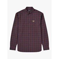 Fred Perry Regular Fit Tartan Shirt, Red/Blue