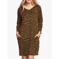 Masai Copenhagen Galita Leopard Print Tunic Dress, Tapenade