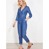 Sosandar Denim Jumpsuit, Blue