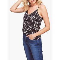 Sosandar Floral Print Camisole Top, Black/Multi