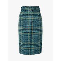 L.K.Bennett Aimee Tweed Skirt, Turquoise