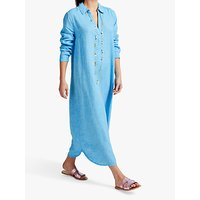 NRBY Chrissie Linen Maxi Dress, Turquoise
