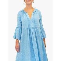 NRBY Elizabeth Linen Maxi Dress, Turquoise