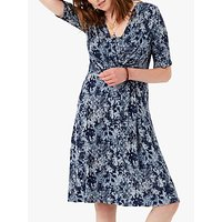 Brora Snake Print Jersey Dress, Navy