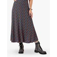 Brora Floral Liberty Print Jersey Skirt, Sapphire Dapple