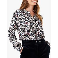 Brora Dapple Print Tunic Top, Lead/Rose
