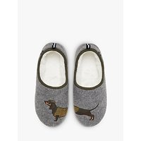 Joules Dachshund Ballerina Slippers, Grey