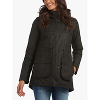 Barbour Cassley Waxed Jacket, Black