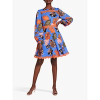 Damsel in a Dress Binx Floral Mini Dress, Blue/Multi