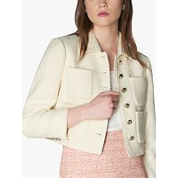 L.K.Bennett Hope Tweed Cropped Jacket, Cream