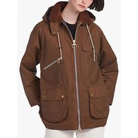 Barbour by ALEXACHUNG Violet Waxed Jacket, Tan/Classic Tartan