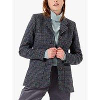 Brora Harris Tweed Check Jacket, Navy