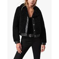 AllSaints Madsen Shearling Cropped Jacket