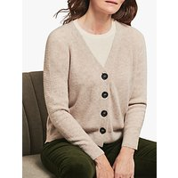 Pure Collection Cashmere Ribbed Cardigan, Marble