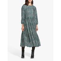 Helen McAlinden Louisa Abstract Print Dress, Teal