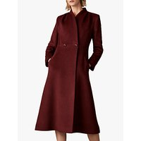 The Fold Finchley Wool Blend Wrap Coat, Burgundy