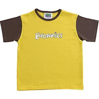 Brownies Uniform Short Sleeve T-shirt, Yellow/brown