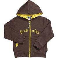 Brownies Uniform Hooded Zipped Top, Brown
