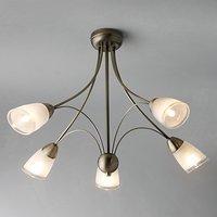 John Lewis Mizar Ceiling Light, 5 Arm
