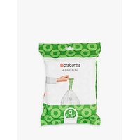 Brabantia PerfectFit Bin Liners, 30L - Size G, 40 Bags