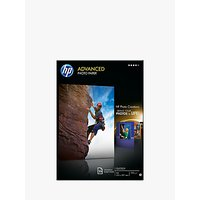 HP Advanced Photo Paper, White, A4, 25 Sheets