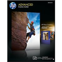 HP Advanced Photo Paper, White, 13 x 18cm, 25 Sheets