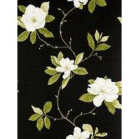 Sanderson Wallpaper, Sweet Bay DPFWSW103, Black / White