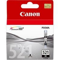 Canon PIXMA CLI-521BK Inkjet Cartridge, Black