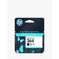 HP 364 Photosmart Ink Cartridge, Standard Black, CB316EE