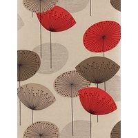 Sanderson Dandelion Clocks Wallpaper, DOPWDA101, Red