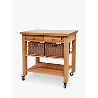 Eddingtons Lambourn Wooden Butcher's Trolley, 90cm