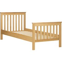 John Lewis Lasko Single Bed Frame, Oak