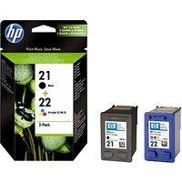 HP 21 Black and 22 Colour Inkjet Cartridges