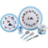 Martin Gulliver Trucks, Boats and Planes Melamine Dinner Set