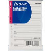 Filofax Contacts, Pocket