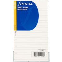 Filofax White Ruled Paper, Personal
