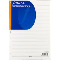 Filofax White Ruled Notepaper, A4