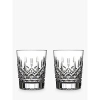 shop for Waterford Crystal Lismore Double Old Fashioned Cut Lead Crystal Tumblers, Set of 2, 350ml at Shopo
