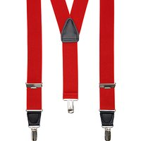 John Lewis Wide Braces, One Size, Red