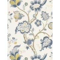 Sanderson Roslyn Wallpaper, DVIWRO102, Indigo / Gold