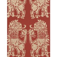 Sanderson Sicilian Lions Wallpaper, DVIWSI103, Red / Gold