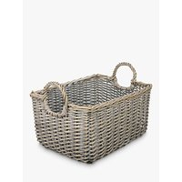 John Lewis and Partners Wicker Medium Basket, Grey