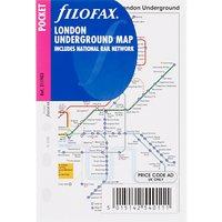 Filofax Pocket Inserts, London Underground Map