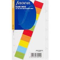 Filofax Personal Inserts, Multi Blank Tabs